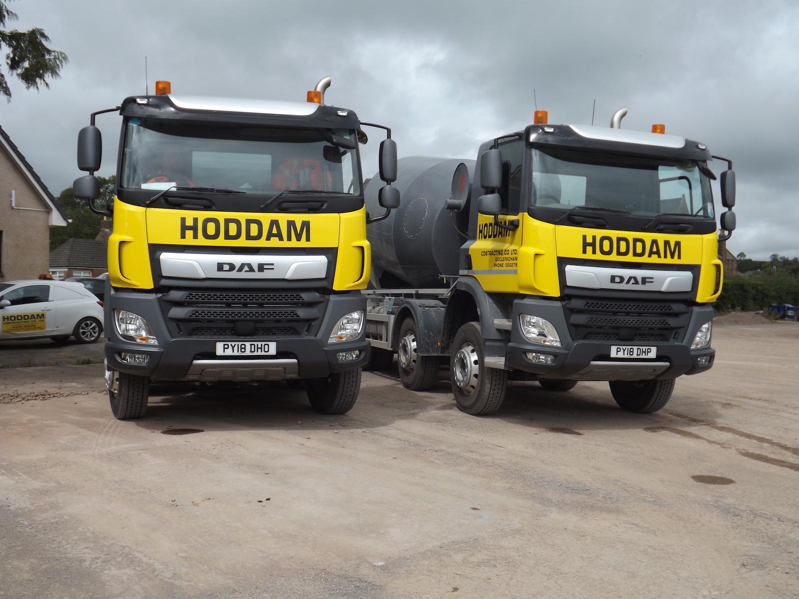 Hoddam Contracting Trucks